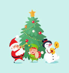 Merry christmas holiday celebration character vector