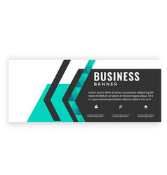 Modern green black design business banner i vector