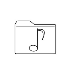 music folder icon vector image