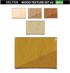 Nature wood texture old set isolated vector