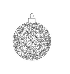 new year tree ball ornament vector image