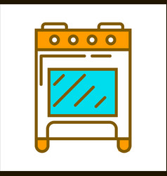 Orange home cooker vector