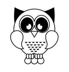 owl bird isolated icon vector image