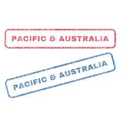 Pacific australia textile stamps vector