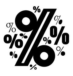 Percentage icon simple style vector