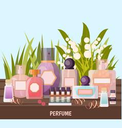 Perfume shop background vector
