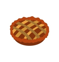Pie icon flat vector