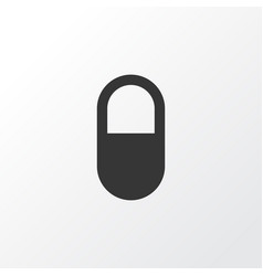 Pill icon symbol premium quality isolated pellet vector
