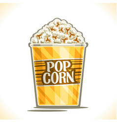 Poster for pop corn vector