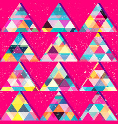 Red triangles seamless pattern vector