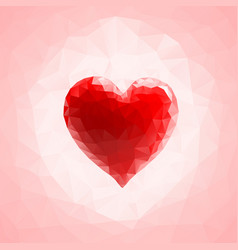 red triangular heart vector image