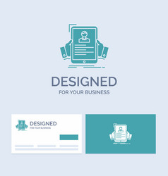 Resume employee hiring hr profile business logo vector