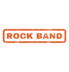 Rock Band Rubber Stamp vector image