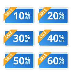 Sale colorful tags banners stickers offer vector
