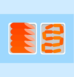 Sausages and minced and seasoned pork beef or meat vector
