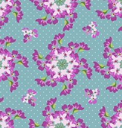 Seamless floral patter with floral circles vector