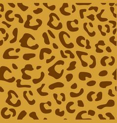 Seamless leopard pattern design animal brown tile vector