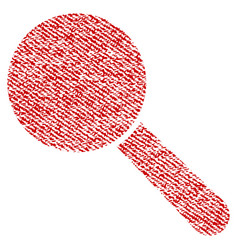 Search tool fabric textured icon vector