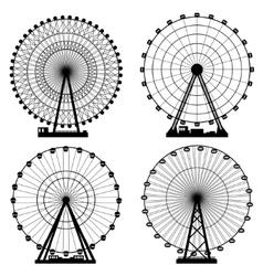 Set Ferris wheel Carnival vector