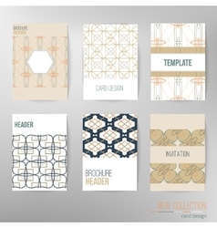 Set of stylish multipurpose cards Can be vector