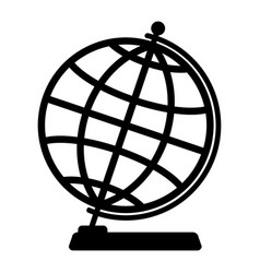 silhouette of the globe vector image