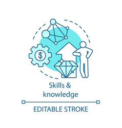 Skills and knowledge concept icon vector