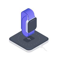 smartwatch isometric vector image