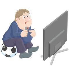 Soccer tv fan vector