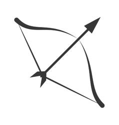 Symbol love bow arrow icon vector