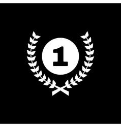 The Award icon Wreath symbol Flat vector image
