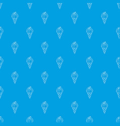 wafer ice cream pattern seamless blue vector image