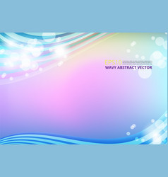 Wavy and lines background vector