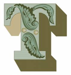 western letter t vector image