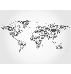 Computer map vector image vector image