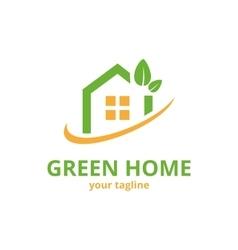 Green Home Logo Template vector image vector image