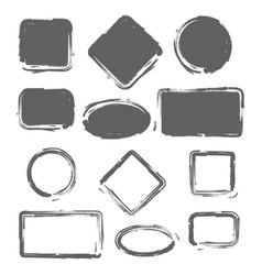 grunge vintage painted shapes set vector image