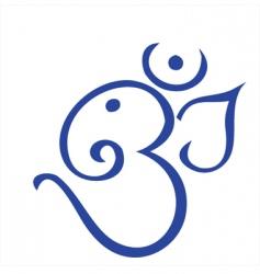 Hindu ganesha vector image