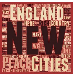 New england travel text background wordcloud vector image vector image
