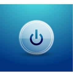 web glass power button vector image
