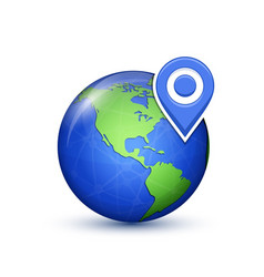 world map with marks vector image vector image