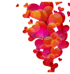 Abstract fly hearts image vector image vector image