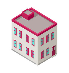 isometric city building isometry vector image vector image