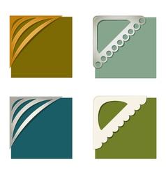 Set of photo corners vector image