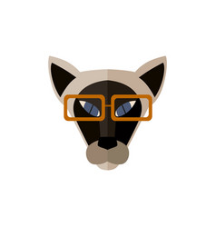 sphinx cat head with glasses icon vector image vector image
