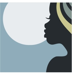 African night beauty vector image