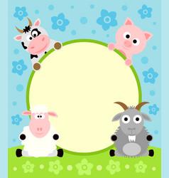 animal cartoon background vector image vector image
