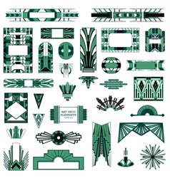 Art Deco Vintage Frames and Design Elements vector image vector image