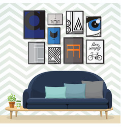 art for living room vector image vector image