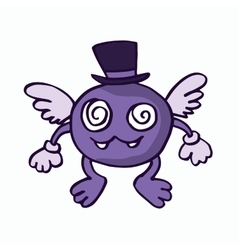 Fly monster cartoon for kids vector image vector image