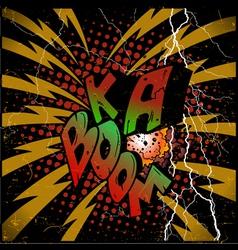Ka-Boom explosion vector image vector image